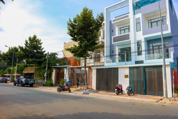 Mặt tiền nhà đường tô vĩnh diện phường hiệp thành