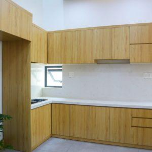 Không gian bếp thông thoáng